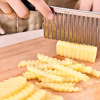 comprar comparacion Ndier Cuchillo Corrugado Vegetal, Cuchillo Corrugado de Acero Inoxidable para Cortar Patatas, Cuchillo de Cocina de Acero ...