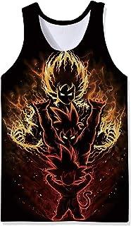 2de6d72ea7321b Lifocs Mens Cool Anime Graphic Tank Top Dragon Ball Work Out Shirt Tokyo  Ghoul Sleeveless Muscle