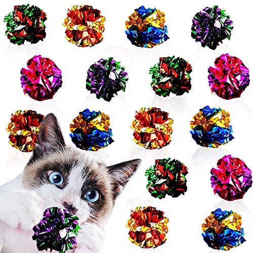 Meric Mylar Crinkle Balls, 2-Inches Multicolored Balls, Save Your Toes...