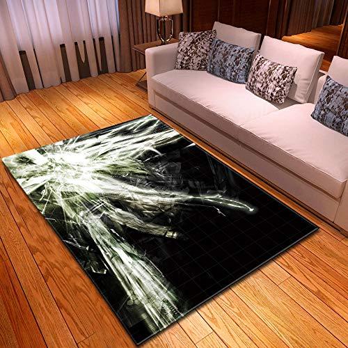 CGZLNL Tapis À Poils Ras pour Salon Design 3D Tapis de Antidérapant Lavable pour Cuisine, Salle de Bain, Entrée Tapis, Soie d'araignée Blanche Abstraite Dimension: 60 x 90 cm