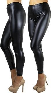 ToBeInStyle Women's Seamless Stretchy Shiny Elastic Metallic Leggings Plus Sizes