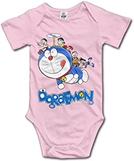 Ogbcom Baby's Doraemon Blue Cat Hanging Bodysuit Romper Playsuit Outfits Clothes Climbing Clothes Short Sleeve