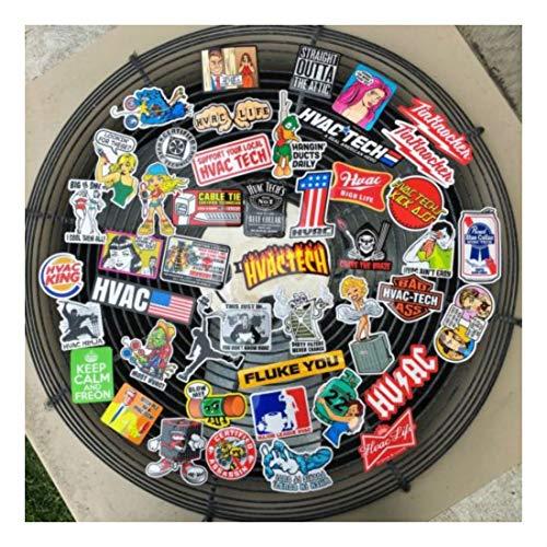 HVAC TECH (45+) Hard Hat Stickers Hardhat Sticker & Decals, Heating & Air, HVACR