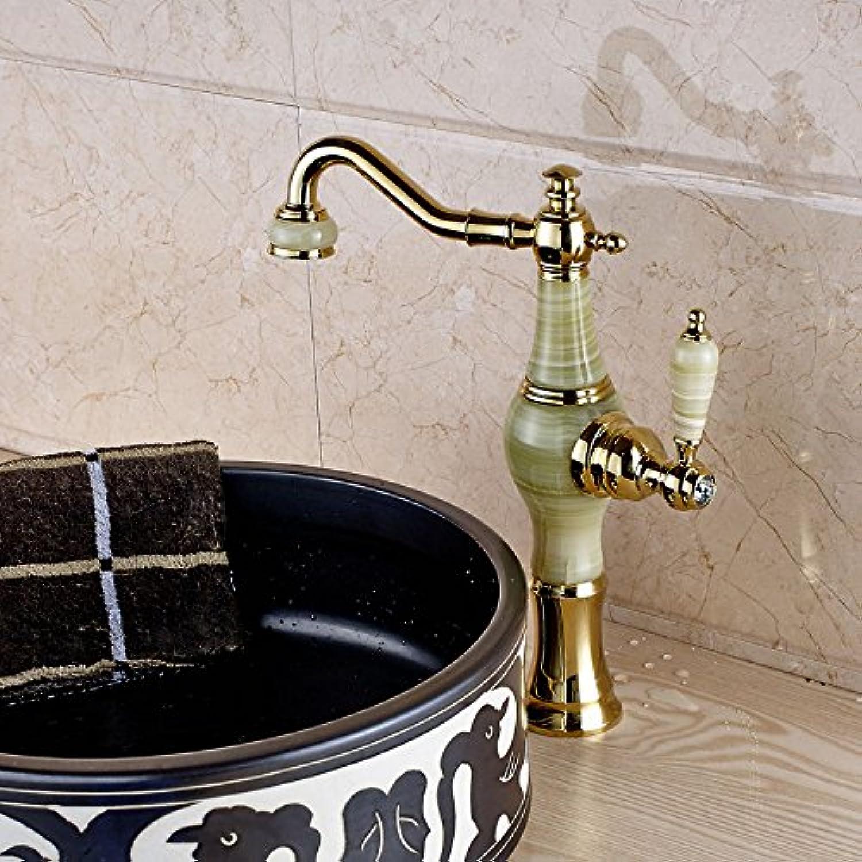 Jduskfl Faucet Kitchen Faucet Net Faucet Bathroom Faucet High Quality 100% Solid Brass 2 Cross Handle Widespread Three Holes 3 Piece Bathroom Sink Faucet Deck Mount Vanity Mixer Tap,Yellow