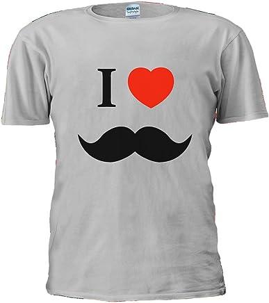 I Love Heart Mostage Moustache novembre ltext T-shirt da uomo da donna per sport acquatici
