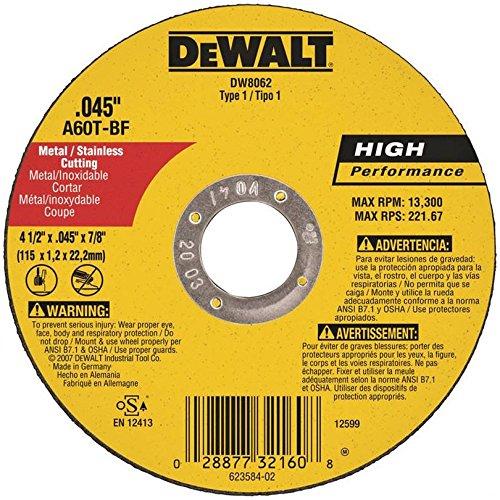 Tipo 1metal fino corte ruedas–4–1/2'x.045' x7/8'metalthincut-off rueda tipo 1[Juego de 25]