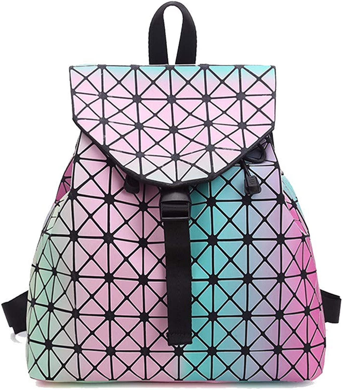 2018 moda medie borsa borsa da viaggio, geometriche rhombic zaino,dei Coloreeei dell'arcobaleno