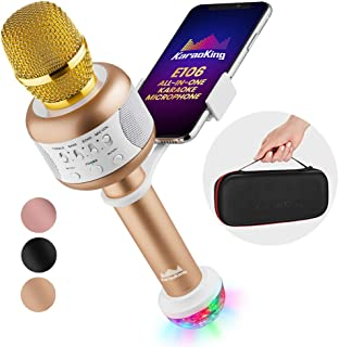 KaraoKing Karaoke Microphone – Wireless, Bluetooth Karaoke Machine for Kids &..
