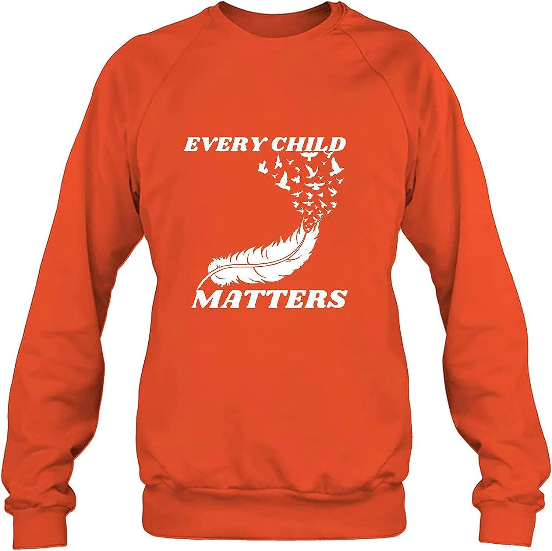 Womens Long Sleeve Tops, Adult Casual Orange Shirt Day Long Sleeve O-Neck Printing Blouse T-Shirt Tops