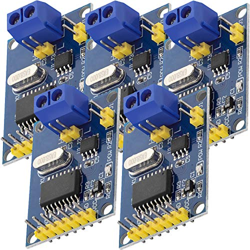 AZDelivery Mini MCP2515 CAN Bus Module TJA1050 SPI Receiver 5V TE534 5mA Development Board Compatible with Arduino (Pack of 5)