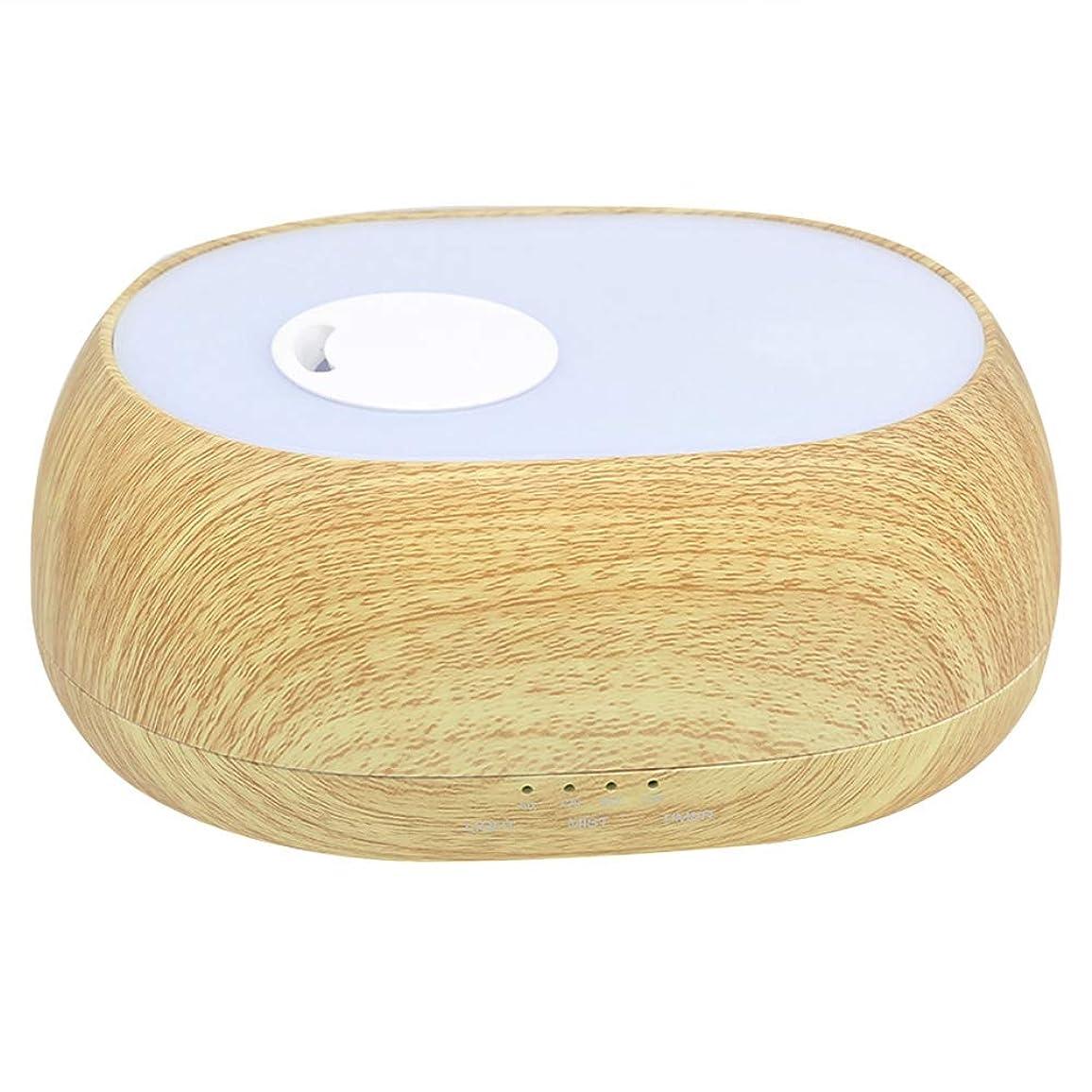 サミュエル繊毛公平な加湿器 超音波 クールミスト 7色ライト アロマセラピー 芳香 オイル蒸発器 ディフューザー エッセンシャルオイル エアー浄化 (500ml)(#1)