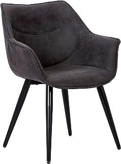 WOLTU 1 X Chaise de Salle à Manger rembourrée en Tissu Scientifique Pieds en métal,Chaise pour Chambre Chaise de Salle de ...