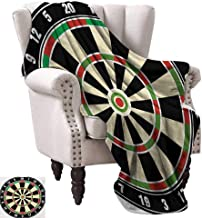WinfreyDecor Sports Warm Blanket Dart Board Numbers Sports Accuracy Precision Target Leisure Time Graphic All Season Light Weight Living Room 30
