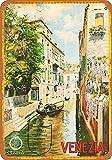 WallAdorn Venecia Italia Hierro Póster Pintura Estaño Sign Vintage Decoración de Pared para Cafe Bar Pub Home 8x12