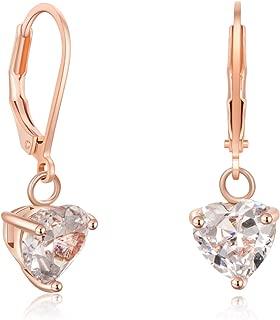Girls And Women Dangle Earrings Rose Gold CZ Fashion Jewelry