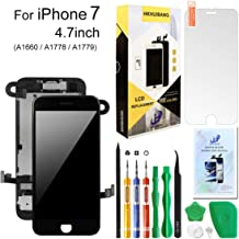 Compatiable with iPhone 7 Screen Replacement Black 4.7inch,Hkhuibang LCD Display 3D Touch Screen Digitizer Full Frame Assembly with OEM Front Camera Proximity Sensor Earpiece Speaker+Repair Tools Kit