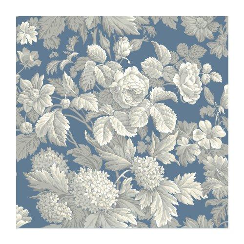 Preisvergleich Produktbild York Wallcoverings French Dressing Antiker Damast Tapete,  Blue .150,  Wallpaper