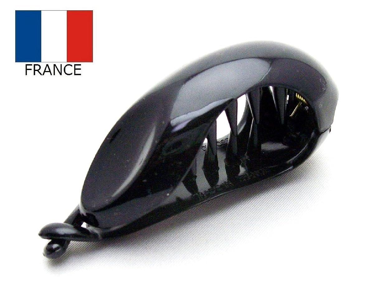 あいにく連想プレゼンテーション【Made in France】ポニークリップ オーバル バネ開閉型*ブラック