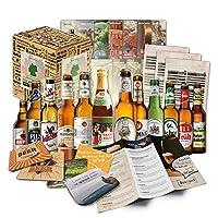 🍻 Ensemble de 12 bières et cadeaux avec 6 bières de brasseries allemandes (les meilleures bières allemandes), y compris un coffret cadeau, un COUVERCLE DE BIÈRE GRATUIT, des fiches d'information sur la bière et des instructions de dégustation. 🎁 LES ...