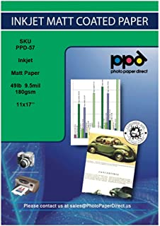 PPD Inkjet Matte Coated Photo Quality Paper Heavy 11x17
