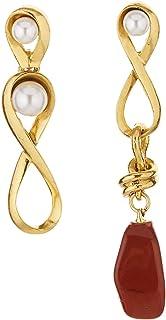 Oscar de la Renta Twisted Loop Pearl Earrings