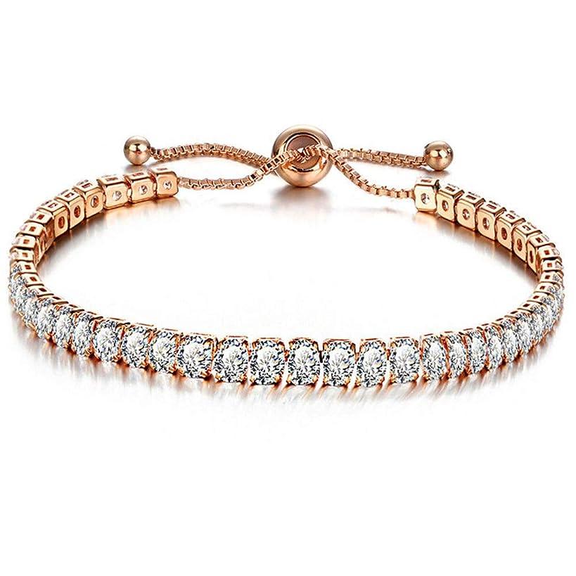 Friedman Zirconia Tennis Bracelet & Bangle Adjustable Pulseras Mujer Charm Bracelet for Women Bridal Wedding Jewelry