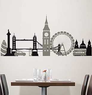 Lunarland LONDON BRIDGE 27 Wall Stickers Mural City Buildings Room Decor SKYLINE Decal BR7