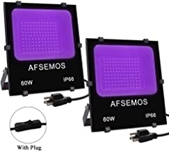 Fluorescent Poster Onforu 2 Pack 15W UV LED Black Light Stage Lighting IP66 Waterproof with Plug for Dance Party Ultraviolet Outdoor Flood Light Neon Glow Glow in The Dark Body Paint Aquarium