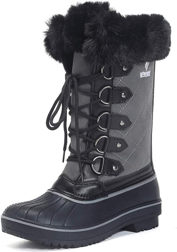EQUICK Women's Waterproof Winter Snow Boots