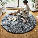 alfombra shaggy redonda