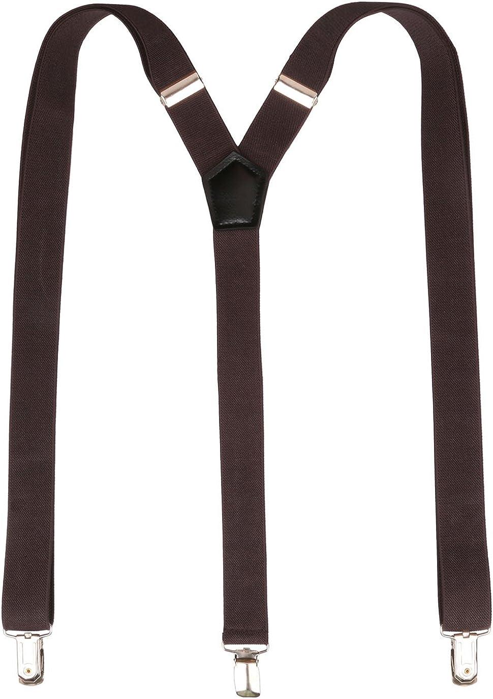 Kat Cheung Bahar Fashion Shirt Suspenders Men Classic Y-Back Elastic Braces Suspenders