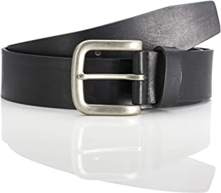 LINDENMANN The Art of Belt leather belt for men leather belt made of full grain cow leather, 40 mm wide and 3,5 mm - 4 mm ...
