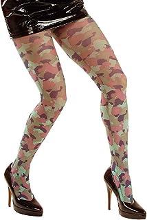 NET TOYS NET TOYS Camouflage Strumpfhose Militär Feinstrumpfhose Tarn Damenstrumpfhose Sexy Soldatin Nylonstrumpfhose Lady Offizier Nylons Krieger Kostüm Zubehör