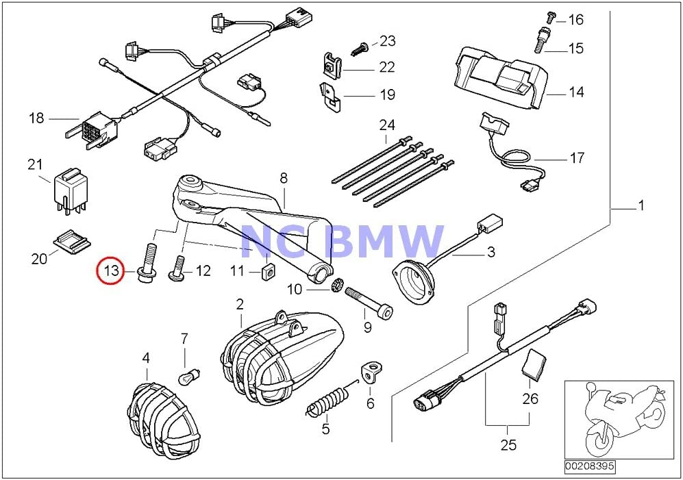 Austin Mall 7 X BMW Genuine Save money Motorcycle With Washer Head Fillister M6X35-ZNNI