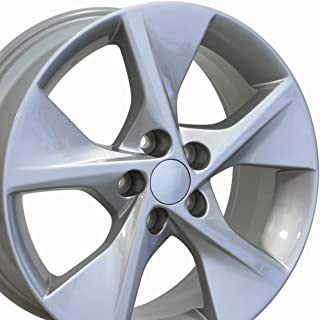 OE Wheels 18 Inch Fits Lexus ES GS HS IS LS RX SC Toyota Avalon Camry Matrix Rav4 Sienna Camry Style TY12 Painted Silver 18x7.5 Rim Hollander 69505