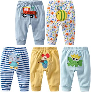 Monvecle Unisex Baby Multi Pieces Newborn to Toddler Cotton Long Pants Shorts Gift Set