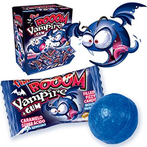 50 gomas de borrar Fini Bubble Gum Vampire Boom Vampiro Blue Chewing