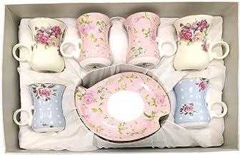 أكواب شاي مع صحون، 12 قطعة - متعدد الالوان