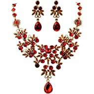 Deals Necklace+Earrings Jewelry Set Womens Mixed Style Bohemia Color Bib Chain Necklace Earrings...