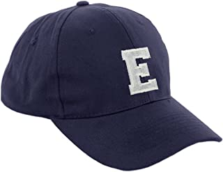 morefaz Unisex Jungen Mädchen Mütze Baseball Cap Marineblau Hut Kinder Kappe Alphabet A-Z TM