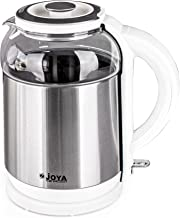 ELECTRIC KETTLE 1.8 LITERS GLASS & S/S COLOR: WHITE & STEEL