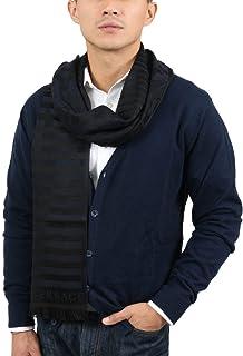 Versace IT00634 MARINO Navy Blue 100% Wool Mens Scarf