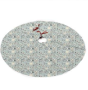 ALLdelete# Christmas Tree Skirt Jupe De Sapin De Noël, Illustration De Bonne Humeur D'été avec Sac À Dos De Vélo Fleurs E