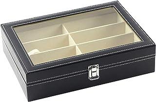 Walory Estuche para Gafas - Caja de Almacenamiento para Gafas de Sol con 8 Ranuras, Organizador de Estuche para Gafas, Org...