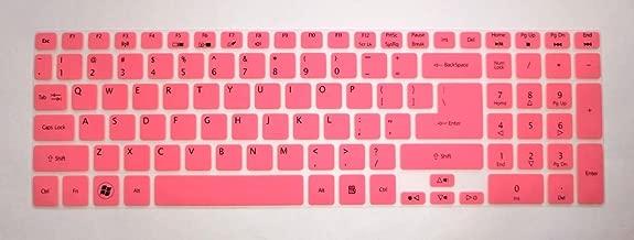 BingoBuy Semi-Pink Ultra Thin Silicone Keyboard Protector Skin Cover for Acer Aspire E1-510 E1-510P ES1-512 E5-511 E5-511P E5-521 E5-521G E1-522 E1-530 E5-531 E1-532 E1-532P E5-551 E5-551G E1-570 E5-571 E5-571G E5-571P E5-571PG E1-572 E1-572P E1-731 E1-771 E5-721 E5-731 E5-771 E5-771G V5-561 V5-561PG V5-561G V5-561P V3-571 V3-571G V15 V3-572 V3-572G V3-572P V3-572PG V3-772G V3-771 V3-771G V3-551 V3-551G V3-731 V3-731G VN7-791G series(if your