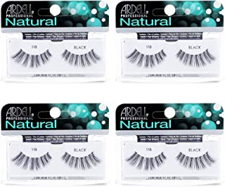 Ardell Natural Lashes False Eyelashes 118 Black (4 pack)