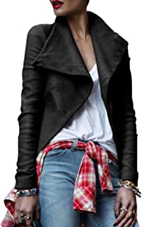 Mogogo Womens Slim Fitted Fashional Lapel Long Sleeve Trench Coat Outwear