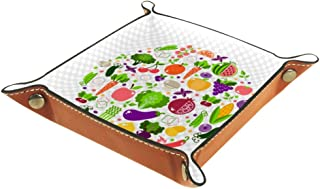 Boîte de rangement pliable en cuir PU pour table de jeu de table carrée de jeu de clé porte-monnaie porte-pièces de monnai...