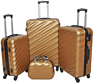 New Travel Hardside spinner luggage Set of 4 pieces with 3 digit number Lock