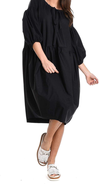 Aspesi Women's 2922130785241 Black Cotton Dress